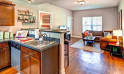 Kitchen, Lodges of East Lansing-Per Bed Lease, 1