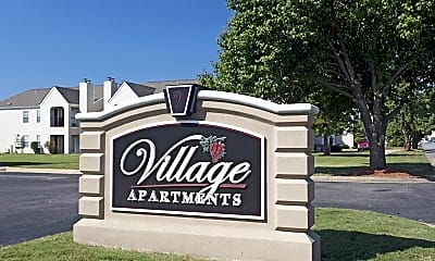 Community Signage, Village Apartments Conway AR, 2