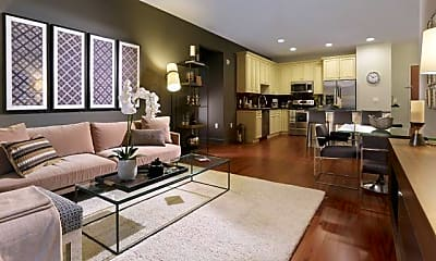 Living Room, 310 Old River Road, 1