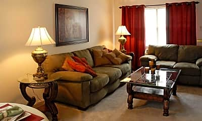 Living Room, Jefferson Townhomes, 1