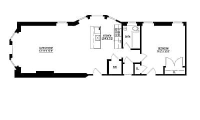 Bathroom, 332 W Hortter St, 2