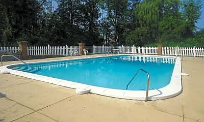 Pool, Washington Square Apartments, 1