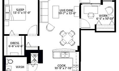Bedroom, 914 S Clark St, 2