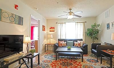 Living Room, The Pointe at Adams Place, 1