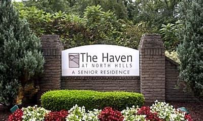 Community Signage, The Haven at North Hills Senior Living, 2
