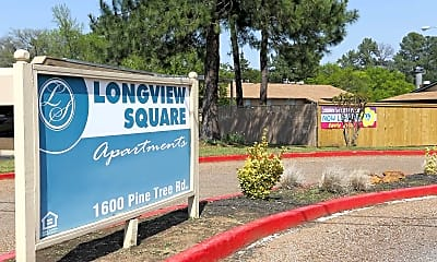 Community Signage, Longview Square Apartments, 1