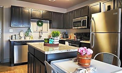 Kitchen, Nueces Lofts, 2