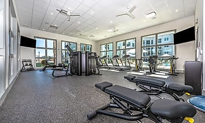 Fitness Weight Room, Atlantic on the Boulevard, 1