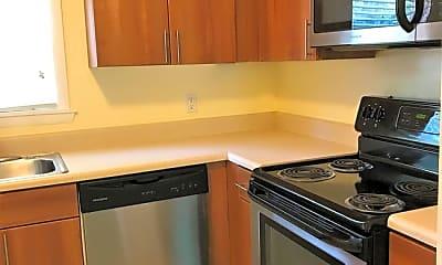 Kitchen, Oak Garden Apartments, 0