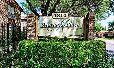 Community Signage, Marland Place, 2