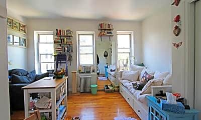 Living Room, 206 W 132nd St 4-R, 0