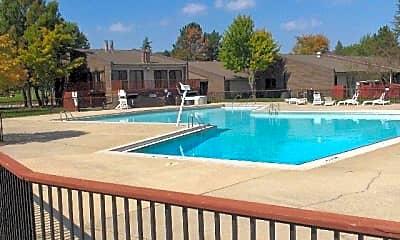 Pool, Woodside Apartments, 1