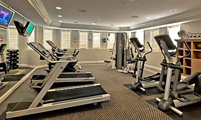 Fitness Weight Room, The Townes at Herndon Center, 2