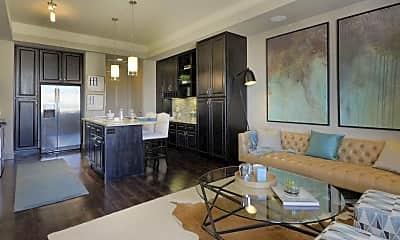 Living Room, The Kelton At Clearfork, 1