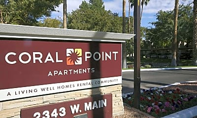 Community Signage, Coral Point Apartments, 2