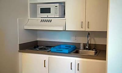 Kitchen, InTown Suites - Mills Road (MIL), 0