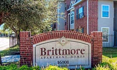 Community Signage, Brittmore Apartments, 2