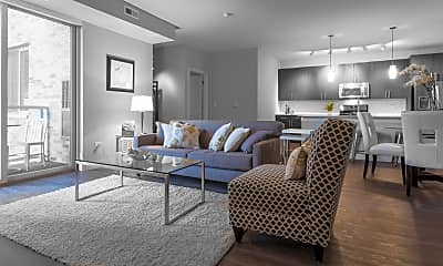 Living Room, Woodview Apartments, 1
