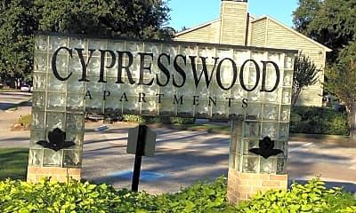 Community Signage, Cypresswood Apartments, 0