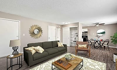 Living Room, Fairview Apartments, 2