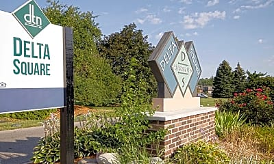 Community Signage, Delta Square Apartments, 2