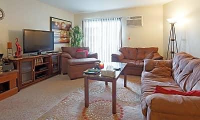 Living Room, Highland Park Apartments, 0