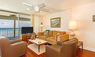 Living Room, 2877 Kalakaua Ave 805, 1