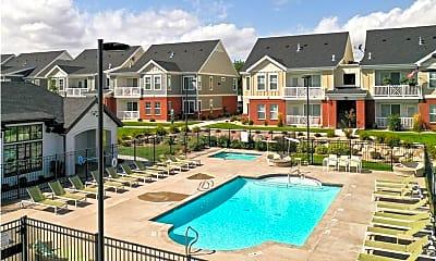 Pool, Meadows at Park Avenue Apartments, 2