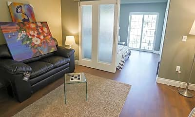 Living Room, Allentown Square Apartments, 1