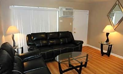Living Room, Blue Station Apartments, 1