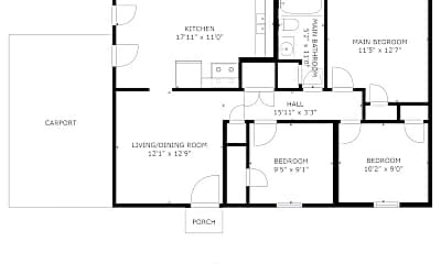 Bedroom, 6625 Camelot Rd, 2