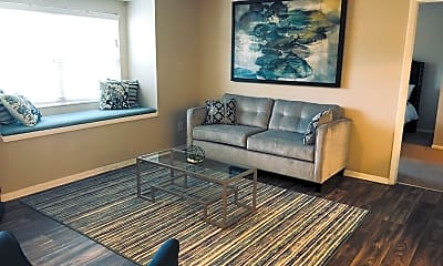 Living Room, Arbor Ridge on West Friendly, 2