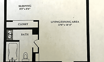 Bedroom, 2059 Huntington Ave, 2