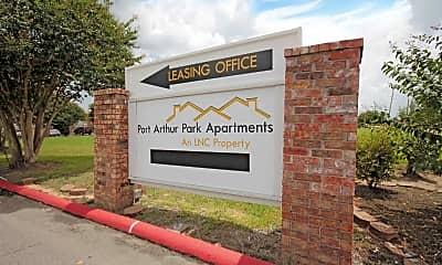 Community Signage, Port Arthur Park Apartments, 2