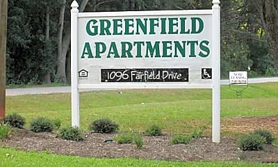 Community Signage, Greenfield Apartments, 1