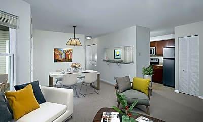 Living Room, Gateway Village Apartments, 1