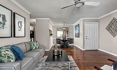Living Room, Arbors River Oaks, 1