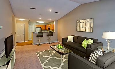 Living Room, Hampton Knoll Apartments, 1