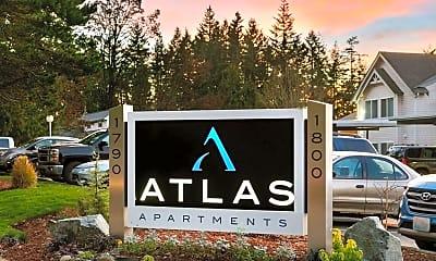 Community Signage, Atlas Apartments, 1