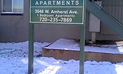 Community Signage, 3048 W Amherst Ave, 2