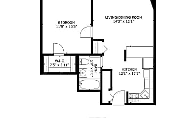 Bathroom, 405 E Oakwood Blvd, 2