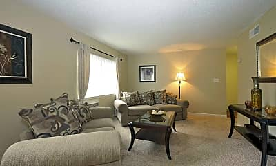 Living Room, Copper Chase Apartments, 1