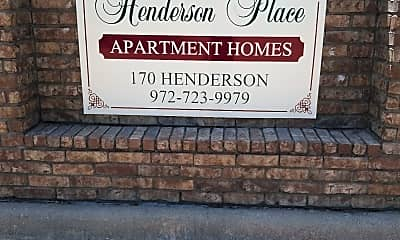 Henderson Place, 1