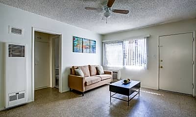 Living Room, Sun Valley Apartments, 1