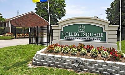 Community Signage, College Square, 2