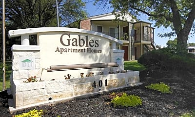 Community Signage, The Gables Apartments, 2