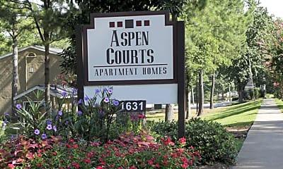 Community Signage, Aspen Court Apartments, 2