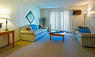 Living Room, Oak Grove Apartments, 1