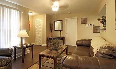 Living Room, Worthington Court Apartments, 1