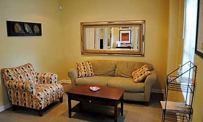 Living Room, High Point Apartments, 2
